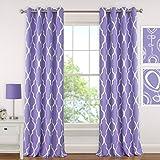 Elrene Home Fashions 26865901337 Juvenile Teen or Tween Room Darkening Grommet Window Curtain Drape Panel, 52' x 84', Purple, 1