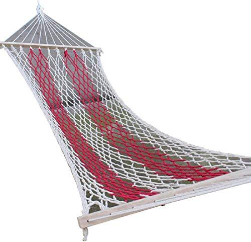 2 Personen Brede Dubbele Katoen Hangmat Decoratie Indoor En Outdoor Hangmat Hangmat, 2 Personen, 450 Pond Capaciteit
