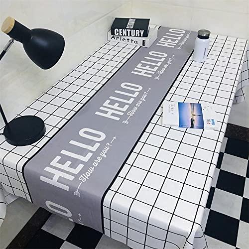sans_marque Paño de mesa, cubierta de mesa de comedor, fregar mantel rectangular, aceite y agua y mantel a prueba de moho, utilizado para decoración de mesa de cocina 60* 90 cm