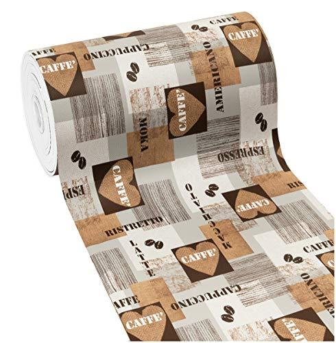 Tappeto Cucina Gomma Antimacchia caffè Cuori Antiscivolo Passatoia Varie Misure Multiuso Bagno Camera MOD.Mendy 22 50x190