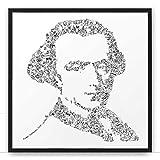 Immanuel Kant - biographie dessinée dans le portrait du penseur et philosophe à la raison pure | cadeau poster illustration philo