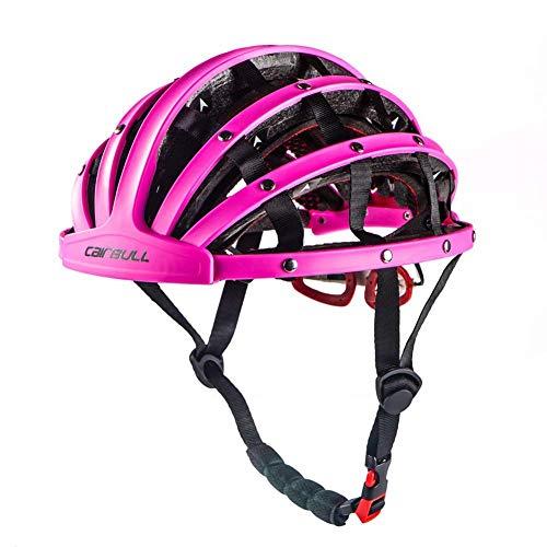 Heemtle Foldable Cycling Helmet Lightweight Adjustable Portable Safety Bicycle Helmets City Bike Sports Leisure Bike Helmet Purple(Adjustable:56cm-62cm)