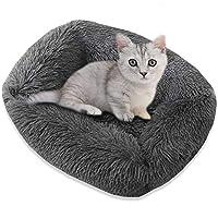 ぬいぐるみ犬のカート、小、中、大、ペットカンパニー、ソファソフトと洗えるのための枕ソフトクッションと猫犬のための長方形のベッド,Dark gray,55x45x20cm