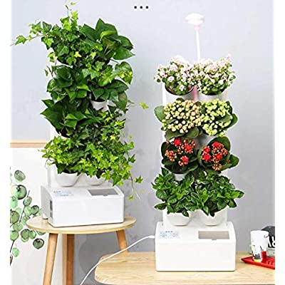 Smart Self Watering Wall Planter with Led, Indo...