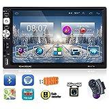 "Podofo Double Din Car Stereo Android Car Radio 7"" HD Touchscreen AM/FM Radio"