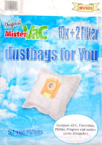 mistervac MV 605 Pack économique de 20 sacs 5 couches en non-tissé et 4 filtres