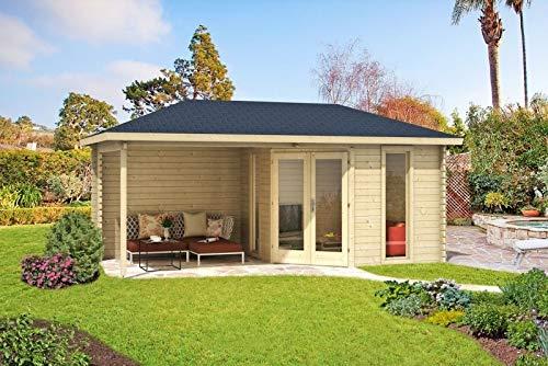 Holzgartenhaus mit Veranda Überdachung