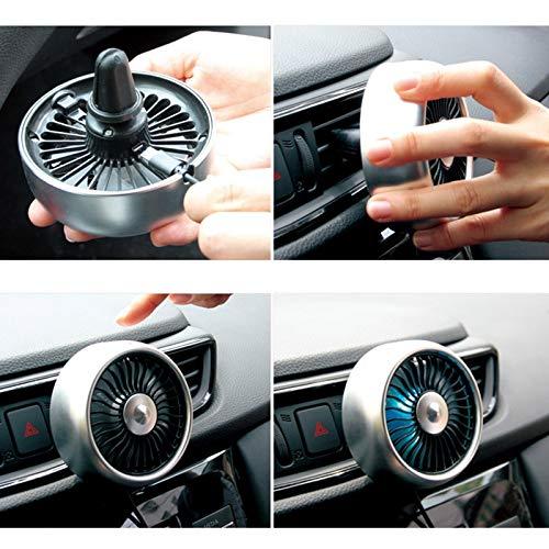 Cobeky Aire Acondicionado del AutomóVil Ventilador VentilacióN del Aire del AutomóVil 3 Modos para Ajustar Velocidad, Silenciosos y Fuertes Ventiladores USB RefrigeracióN AutomáTica Plata