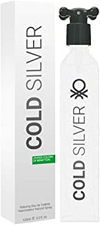 United Colors Of Benetton Cold Silver By Benetton For Men - Eau De Toilette , 100 ml