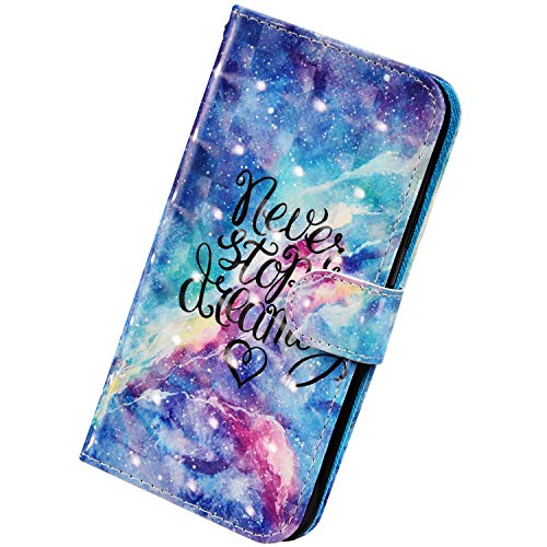 Herbests Kompatibel mit Samsung Galaxy A20e Handyhülle Handytasche Leder Hülle 3D Bunt Glitzer Bling Glänzend Muster Leder Schutzhülle Flip Case Brieftasche Wallet Tasche,Funkeln Sterne