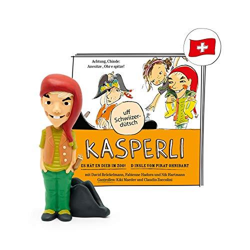 tonies Hörfigur für Toniebox, Kasperli -Im Zoo! / Pirat Ohnibart, schweizerdeutsches Hörspiel für Kinder...