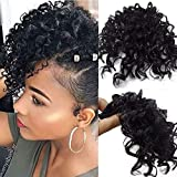 Afro Kinky Curly Bangs for Black Woman Clip...