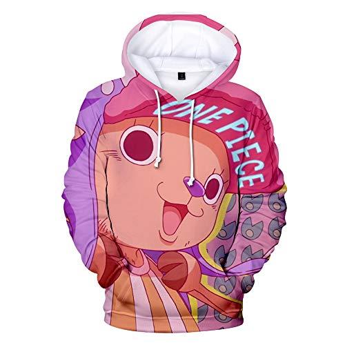 Unisexe Anime Sweats à Capuche One Piece 3D Imprimé a Manches Longues Sweat-Shirt Hoodie Pull avec Poche Casual Streetwear Tops pour Hommes Femmes