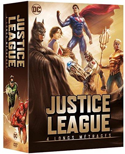 Justice League - 4 longs métrages: Le paradoxe Flashpoint + Le Trône de l'Atlantide + Dieux et monstres + vs les Teen Titans [Francia] [DVD]