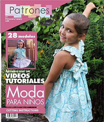 Revista patrones de costura infantil, nº 1. Moda Primavera-verano, 28 modelos de patrones,