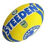 Steeden NRL Parramatta Eels Ballon de rugby 2020 Jaune/bleu – 5