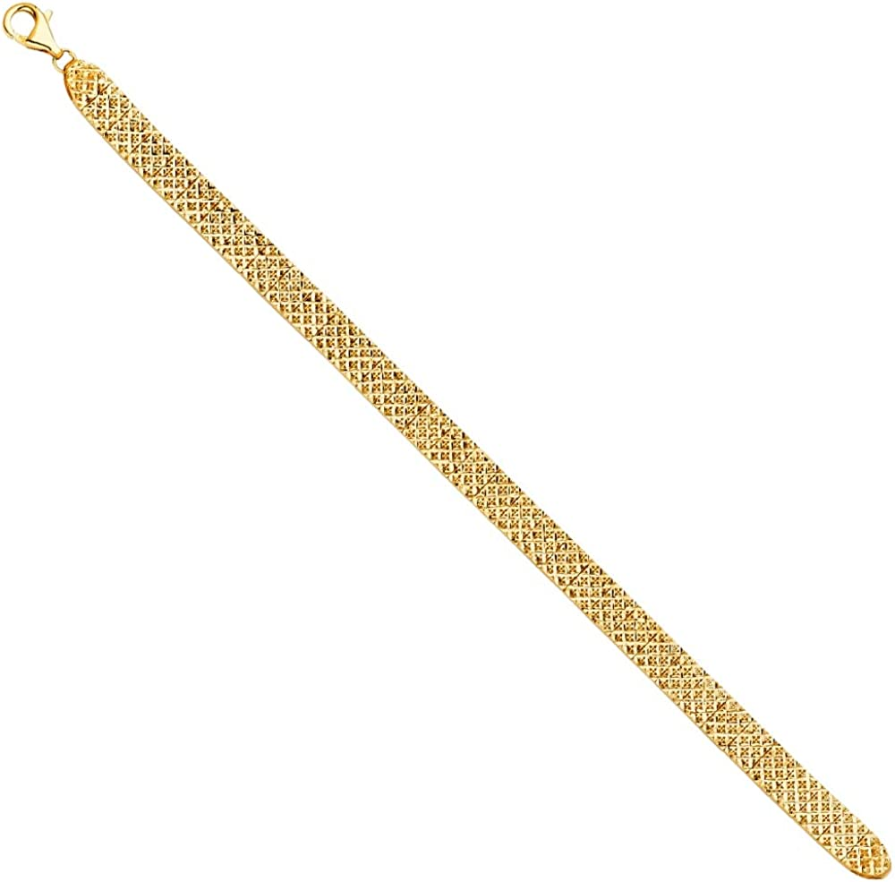14k Yellow Gold Trust Crystal Cut Bracelet Jewelry Gifts for New mail order Women