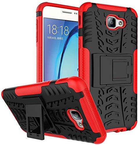 Capa Capinha Anti Impacto Para Samsung Galaxy J5 Prime e Galaxy On 5 2016 Case Armadura Hybrid Reforçada Com Desenho De Pneu - Danet (Preto com vermelho)