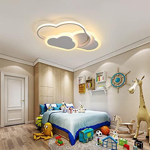 SENQIU Luz de Techo LED 32w, Luz de Techo Creative Cloud con Control Remoto Regulable 3000-6500k 2800lm φ42cm*H6cm, Iluminación Romántica para Dormitorio, Sala de Estar, Habitación Infantil