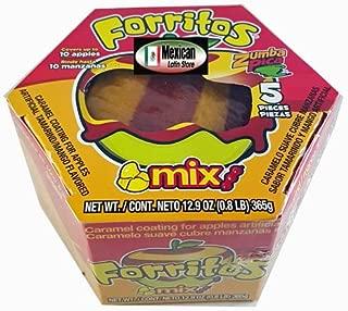 Zumba Pica Forritos Cubre Manzanas Mango(caramel Coating for Apples Mango) 5pc
