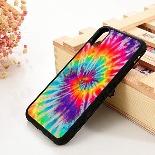 KKAAVV para 5 5S SE 6 6S TPU Funda de Silicona para teléfono para iPhone 7 8 Plus X XS 11 Pro MAX XR Colorido Tie Dye Rainbow Hippie, para iPhone 5S