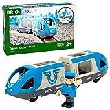 Brio World - 33506 - Train de voyageurs à pile - Train électrique bidirectionnel - Conducteur inclus - Pour circuit de train en bois - Jouet mixte à partir de 3 ans