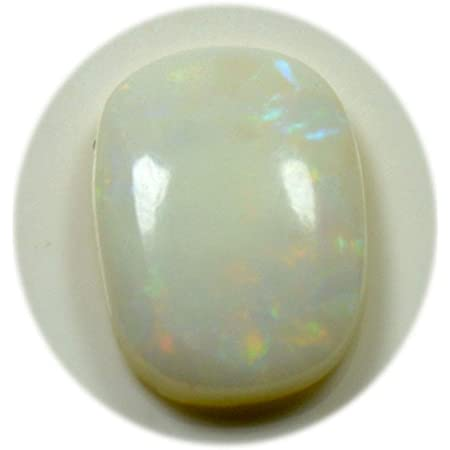 Cabujón natural de ópalo australiano multi fuego, piedra preciosa suelta ovalada de 2,35 quilates para curación de chakras