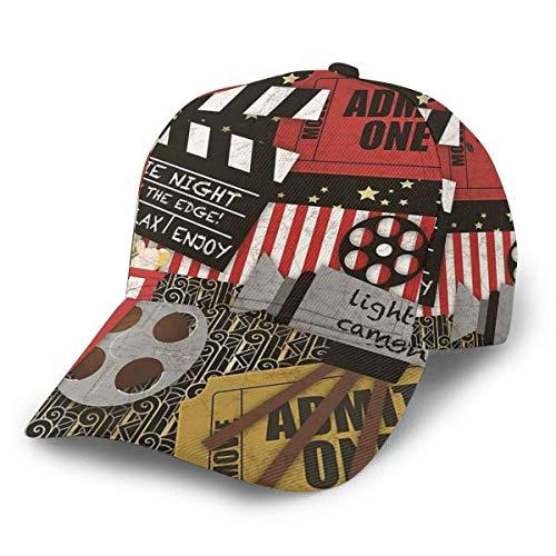 Gorra de béisbol unisex Popcorn Popping Boleto de circo...