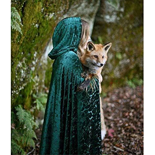 Fairy Robe Cloak Witch Hooded Cape Halloween Drama Stage Kostüm Winter Fantasy Elf Schal