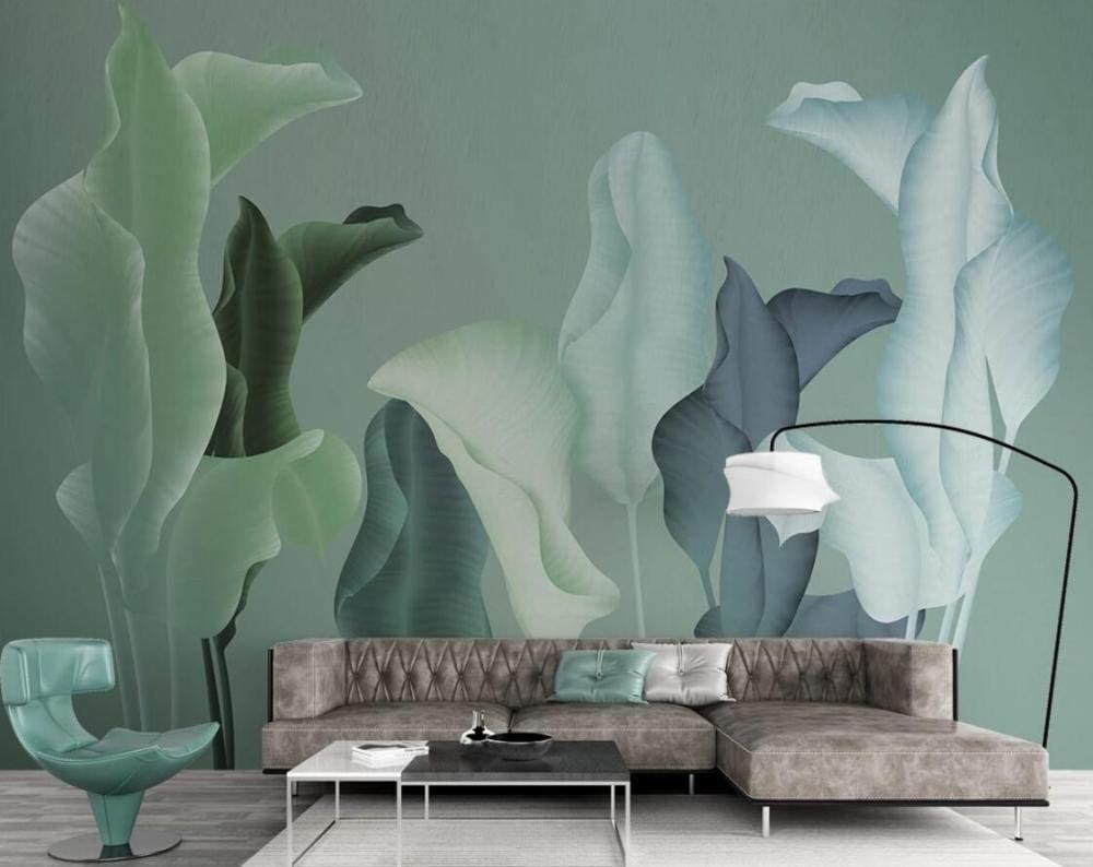 Wallpaper 3d Mural Simple Hand Painted Plant Leaves Decor Wallpapers Bedroom Living Room Tv Background Wall Murals 150cm 105cm Amazon Com