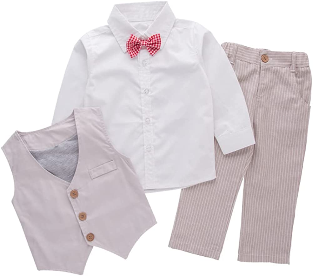 StylesILove Baby Kid Boy Low price Formal Wear Pants Vest 3-pc Shirt Challenge the lowest price of Japan ☆ and