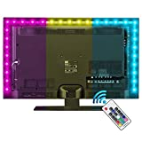 LED Strip Lights with Remote 2M, LED TV Backlight 6.6ft for 40-60 Inch HDTV, RGB USB Powered Led Lights for Bedroom Decor Home Accessories Pc Monitor Theater Screen