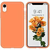 iPhone XR Case ZVastt Liquid Silicone Gel Rubber Slim Phone Case Soft Anti-Scratch Durable Microfiber Lining Full Body Shockproof Protective Smooth Cover for iPhone 10 XR 6.1 Inch 2018, Kumquat