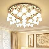 DC Wesley Lámpara de techo redonda para sala de estar, dormitorio, diseño de setas nórdicas, 550 x 260 mm (tamaño : 550 x 260 mm)