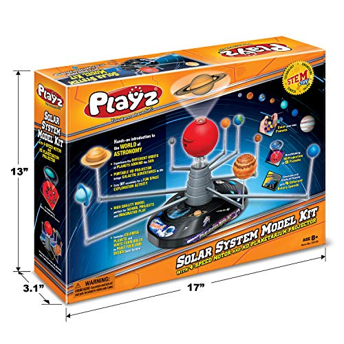 Product Image 3: Playz Solar System Model Kit with 4 Speed Motor, HD Planetarium Projector, 8 Painted Planets, and 8 White Foam Balls with Paint and Brush for a Hands-On STEM DIY Project