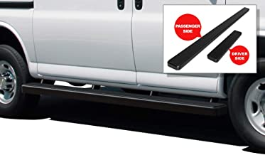 APS iBoard (Black Powder Coated 5 inches) Running Boards Nerf Bars Side Steps Step Rails Compatible with 2003-2020 Chevy Express GMC Savana 1500 2500 3500 Full Size Van