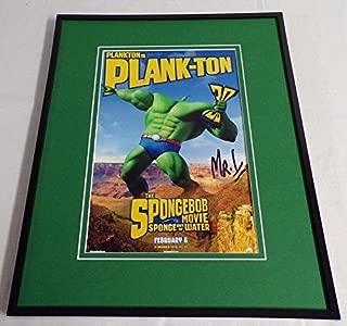Mr. Lawrence Signed Framed 11x14 Poster Display AW Spongebob Plankton