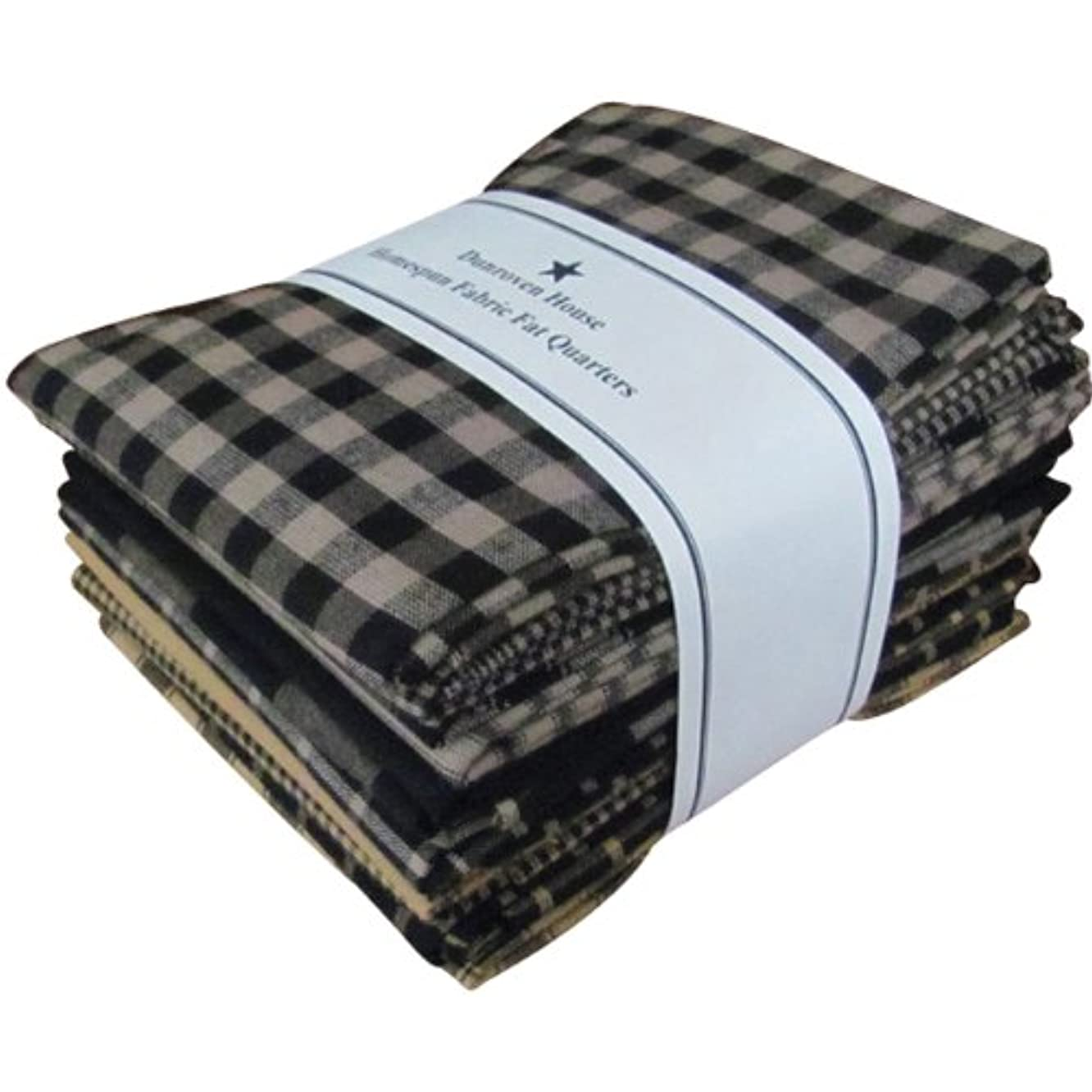 Dunroven House Homespun 12-Piece Fat Quarters, 18 by 21-Inch, Black
