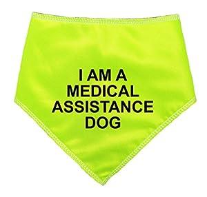 Spoilt Rotten Pets–Bandana réfléchissant haute visibilité avec inscription I AM A MEDICAL ASSISTANCE DOG–Quatre tailles ajustables pour chiens de toutes tailles