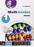 Math genius. Aritmetica-Geometria-Palestra delle competenze. Per la Scuola media. Con e-book. Con espansione online (Vol. 1)