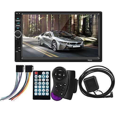 Estéreo para automóvil Pantalla táctil LCD de 7 pulgadas Reproductor de radio para automóvil Reproductor de audio y video para automóvil Reproductor de video Bluetooth MP5 GPS TF USB Navegador auxilia
