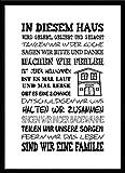 artissimo, Spruch-Bild gerahmt, 51x71cm, PE6003-ER, In