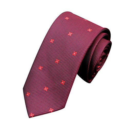 NiSeng Homme Cravate Slim Lavallière Cravate classico Jacquard Tie Mariage Business Necktie