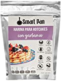 Harina para waffles y hotcakes con garbanzo - Sin azúcar, Sin gluten, Alto en proteína, Bajo en calorías, Endulzante sin calorías - Smart Pan