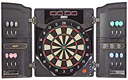 Best Sporting Electronic Dartboard Oxford 2.0, LED Dartboard Cabinet with 12 Dart Arrows, Spare Tips and Power Adapter