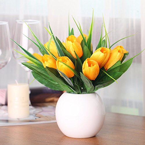 ZJJJH Kunstmatige decoratieve bloemen Idyllische kunstbloem tulip tafel decoratie I XCZHJ bloemenproducten omvat: kunstbloemen & planten, bloemen, planten, bloemendecoratie, struisjes & krans.