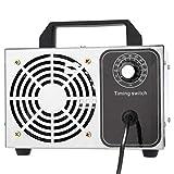 Generador de ozono, Generador de ozono portátil 28 g / h Ozonizador Tratamiento de esterilizador de purificador de agua y aire, Limpiador de purificador de aire de acero inoxidable Olor a moho para