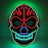 shirylzee Máscara Halloween Máscara LED Halloween Accesorios de Disfraces Cosplay Máscara de...