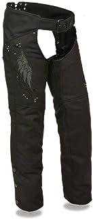 Milwaukee Women`s Motorcycle Motorbike Textile CHAP Black Embroidery Reflective Black New (2XS Regular)