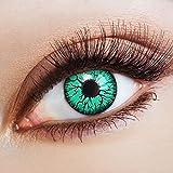 aricona Kontaktlinsen Farblinsen - Grüne Jahreslinsen ohne Stärke - Halloween Kontaktlinsen farbig Horror,630,Grün